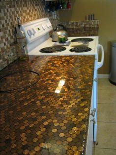 Penny Kitchen Countertop Floor Tile