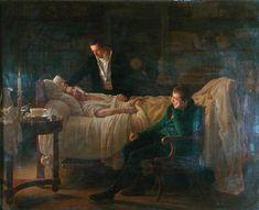 La muerte de Bichat, 1802, por Louis Hersent. Bichat, anatomista y fisiólogo francés, sentó las bases de la histología moderna.
