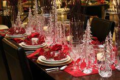 Red Christmas setting
