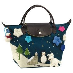 Le Pliage Limited Edition Bonhomme de Neige (Snowman), One Size in Peacock