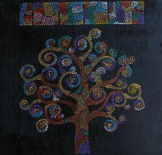 Дерево жизни, точечная роспись