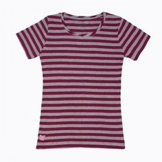 Cranberry and gray stripedshirt for women, kids, babies.  Perf for A, UMass, Harvard.  $24.50