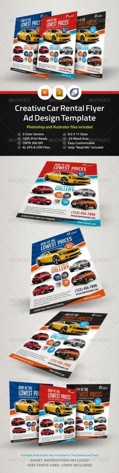 Creative Car Rental Flyer Ad Template - Corporate Flyers