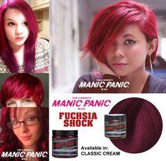 tinte fantasía para pelo rosa manic panic fuschia shock
