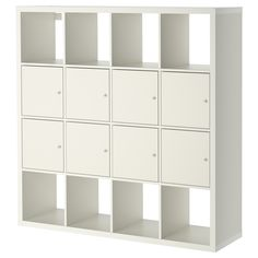 "KALLAX Shelf unit with 8 inserts - white, 57 7/8x57 7/8 "" - IKEA $259 with these particular inserts. Different inserts available."