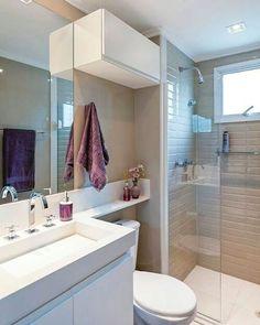 [#Inspiração] Tão lindo ❤. Por: Pinterest #banheiro #lavabo #apartamentopequeno #construtoratenda #homeinspiration #homedesign #homedecor #moveisplanejados #architecture #designdeinteriores #bomdiaa