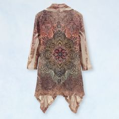 Crystal Accent Paisley Cardigan - Casual Women's Clothing and Fashion Accessories - Exclusive Styles in Misses and Womens Plus Sizes | Serengeti