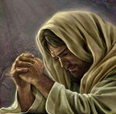 Jesus in Humble Prayer. Jesus Our Savior, Jesus Is Lord, Lds Art, Bible Art, Croix Christ, Image Jesus, Pictures Of Jesus Christ, Jesus Pics, Images Of Christ