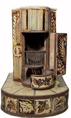 Henry Varnum Poor, ceramic stove, ca. 1940s
