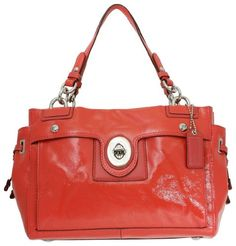 Save $108.05 on Coach Peyton Patent Leather Carryall 19756M; only $249.95