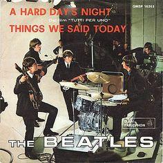 Musik-Graffiti / The Beatles: Alle dækpladerne af 45 o./min singler trykt i Italien