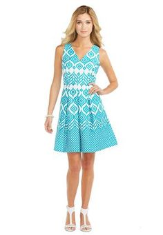 Cato Fashions Textured Turquoise Jacquard Dress #CatoFashions #CatoSummerStyle