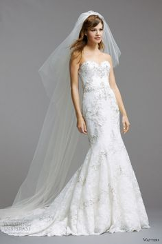 watters brides 2014 strapless wedding dress style 5014B