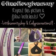 Maybe I'm a bit biased but this is the best giveaway I've seen in awhile!!  #hoops #tops #hoopaccessoriesRepost Tag & Follow @calypsocreationsfl & @littleserenityshop #freeflowgiveaway tag 3 friends to play too!! For prize details check out my amazing #sponsors original post @calypsocreationsfl ! #giveaway #hoopgiveaway #crochettop #crochet #hooplove #hoopgear #free by veiled_hoops