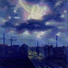 """""""Lightning"""" 1909.  Luigi Russolo (1885 - 1947)"""