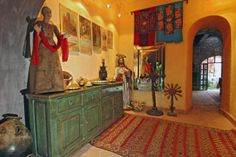 Old style San Miguel de Allende, Mexico, interior, rustic buffet, console