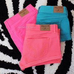 Hollister colored shorts #was going to bye the light pink one