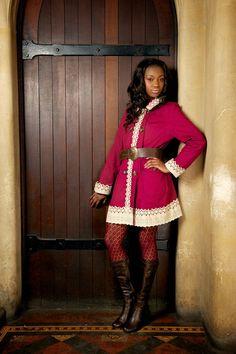 Beautiful Pink Coat.  Size 10 Model: Peppa Dee Photographer: PixBeat Photo