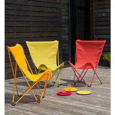 Fauteuil design maxi pop up terrasse bord de piscine - Housse fauteuil lafuma pop up ...
