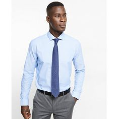 Express Fitted Micro Print Dress Shirt ($70) ❤ liked on Polyvore featuring men's fashion, men's clothing, men's shirts, men's dress shirts, blue, mens cotton dress shirts, mens slim fit shirts, express mens dress shirts, mens fitted dress shirts and mens blue shirt