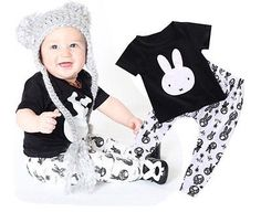 2016-Summer-INS-cotton-baby-boy-rabbit-printing-set-Childrens-Clothing-Sets