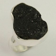 Natural BLACK TOURMALINE Gemstone 925 Sterling Silver Jewelry Ring Size US 6.75 #Unbranded Black Tourmaline Ring, Tourmaline Gemstone, Pink Tourmaline, Ethiopian Opal Ring, Sterling Silver Jewelry, Jewelry Rings, Gemstones, Natural, Rings