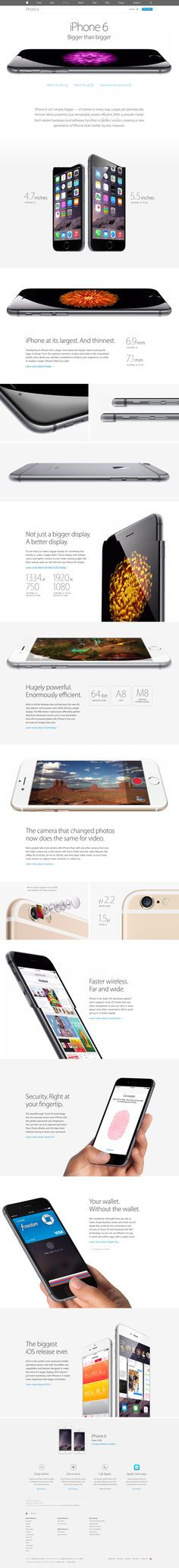 iPhone 6 and 6 plus #ui #web #interface