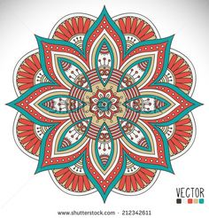 Find Mandala Round Ornament Pattern Vintage Decorative stock images in HD and millions of other royalty-free stock photos, illustrations and vectors in the Shutterstock collection. Mandala Art, Mandala Design, Indian Mandala, Mandala Drawing, Mandala Painting, Dot Painting, Stone Painting, Coloring Books, Coloring Pages