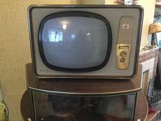 Pye 1950s black and white television set