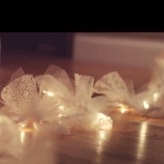 firefly lights - tie white tulle around flicker lights to mimic fireflies around the room for the girls
