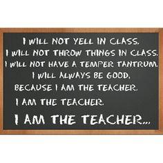 I am the teacher.