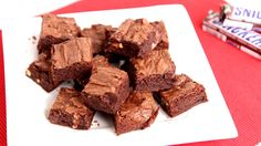 Snickers Brownies Recipe - Laura Vitale - Laura in the Kitchen Episode 821