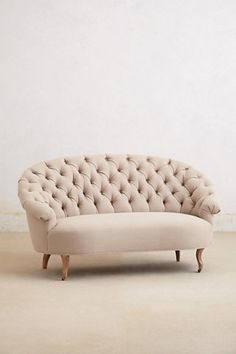 Home, house, sofa, cream, furniture, Tufted Priscilla Settee