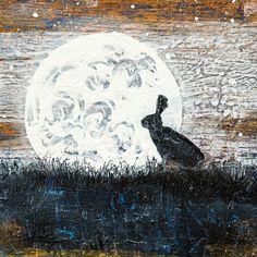 """Louise Worthy """"Moon Shadow"""" Mixed Media"""