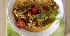 The best Salmon And Lentil Stew recipe you will ever find. Welcome to RecipesPlus, your premier destination for delicious and dreamy food inspiration. Lentil Stew, Lentil Recipes, Salmon Recipes, Tomato Sauce, Cheesesteak, Cherry Tomatoes, Lentils, Food Inspiration, Risotto