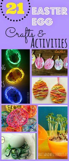 21 Easter Egg Crafts & Activities for kids #easter #preschool #kidsactivities