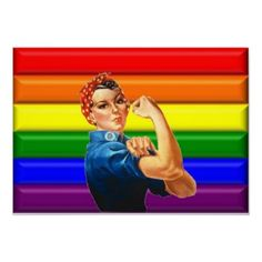 Liven up the walls of your home or office with Lesbian Pride wall art from Zazzle. Lesbian Pride, Lesbian Love, We Can Do It, Rainbow Pride, Gay Art, How I Feel, Lgbt, Cheers, Beautiful