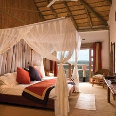 Your dream safari starts here at Ulusaba Private Game Reserve in South Africa. Bedroom Themes, Bedroom Decor, Design Hotel, House Design, African Bedroom, Hotel Boutique, African Interior, Game Reserve, Beautiful Hotels
