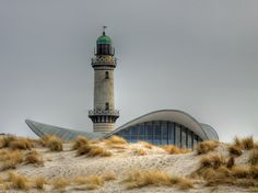 Rostock: lighthouse in Warnemünde (Germany)