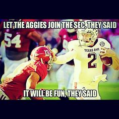 Johnny football...  Was there for the big win against Bama...  Roll That!!!