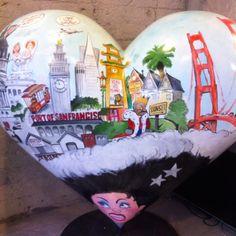 Hearts of San Francisco Heart Of Life, I Love Heart, Key To My Heart, Heart Wall, Heart Sign, Valentine Heart, Valentines, San Francisco, Heart Crown