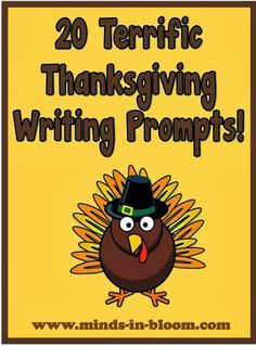 These 20 Thanksgiving writing prompts are sure to inspire even your most reluctant writers. Perfect for bell work, journals, or as a prompt for a larger project.