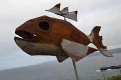 Image result for metal fish art sculptures
