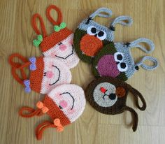 Bracelet purses Crochet Bags, Crochet Dolls, Beautiful Crochet, Sheep, Cases, Bracelet, Christmas Ornaments, Holiday Decor, Baby