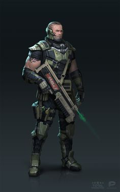 ArtStation - Space Commando, Yevhen Motsak