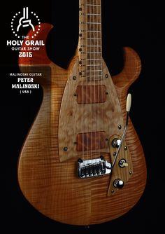 Exhibitor at the Holy Grail Guitar Show 2015: Peter Malinoski, Malinoski Guitar, USA. http://www.malinoskiguitar.com/, https://www.facebook.com/malinoskiartguitar, http://holygrailguitarshow.com/exhibitors/malinoski-guitar/