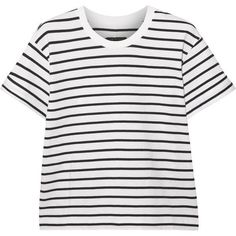 Rag & bone Boy striped stretch cotton-jersey T-shirt featuring polyvore, fashion, clothing, tops, t-shirts, tees, white, jersey tee, stripe tee, relaxed fit tee, stripe t shirt and stripe top