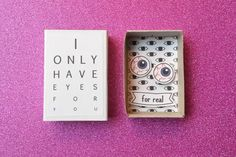 Funny Valentine's Only Eyes For You Creepy Cute by PINSandPUNSco