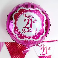 Perfectly Pink Birthday18 inch 21st Birthday Foil£2.99each