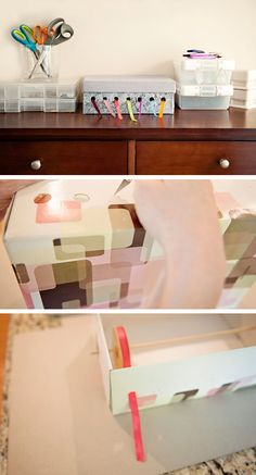 Compact Ribbon Organizer | Click Pic for 25 DIY Small Apartment Decorating Ideas on a Budget | Organization Ideas for Small Spaces  yessssss for yarn too?